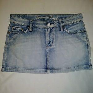 American Eagle Jean Mini Skirt Size 2
